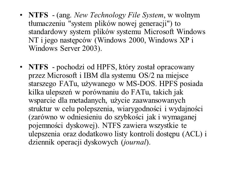 NTFS - (ang.