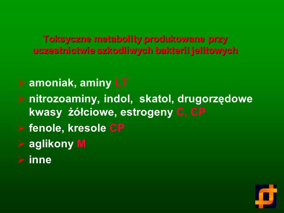 Oligosacharydy Metabolizm oligosacharydów Bacteroides spp Clostridium spp Coprococcus spp Escherichia spp Eubacterium spp Fusobacterium spp Megaspaera