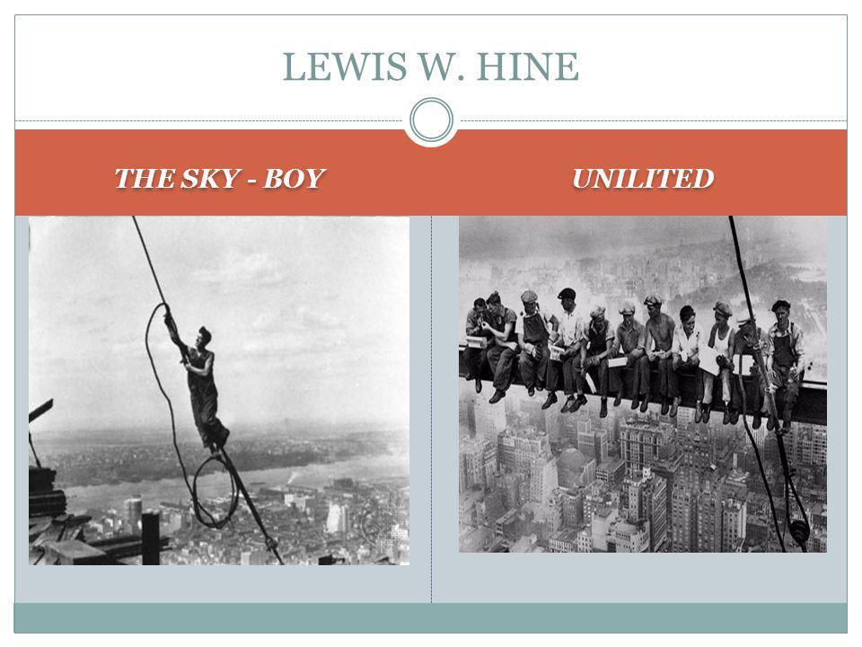 THE SKY - BOY UNILITED LEWIS W. HINE