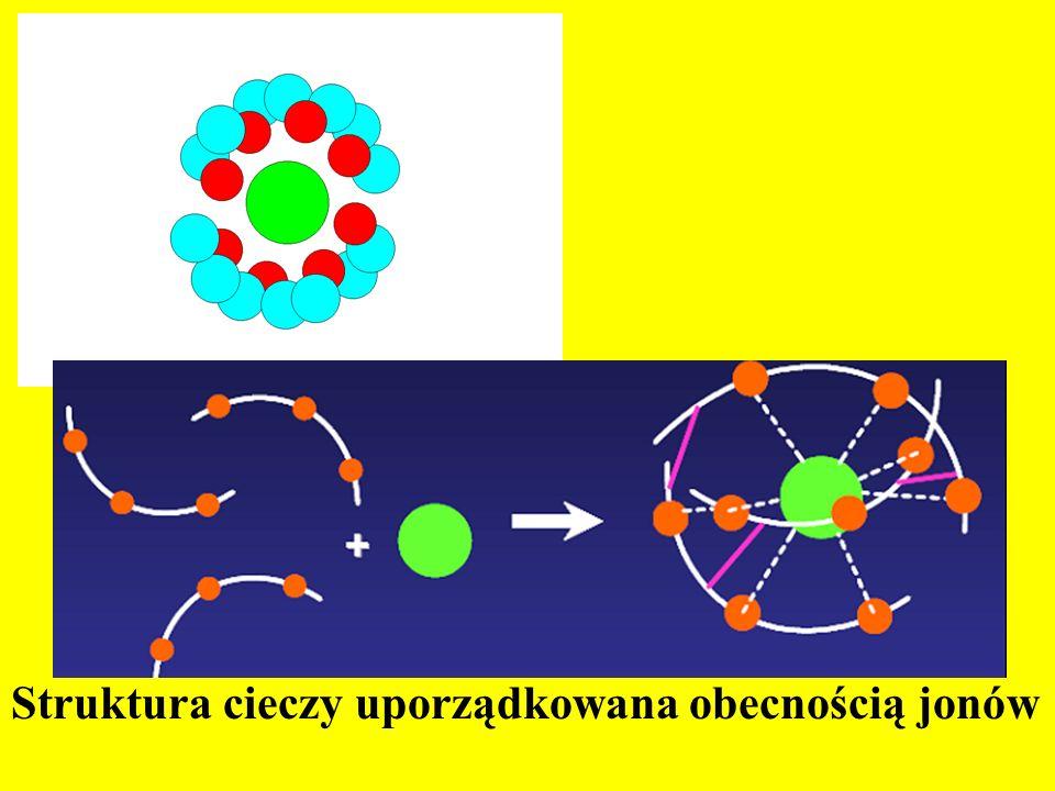 Struktura cieczy uporządkowana obecnością jonów