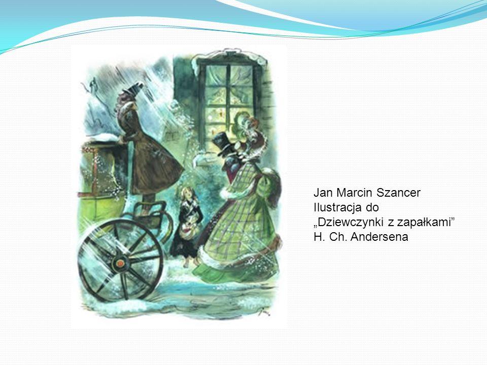 Jan Marcin Szancer Ilustracja do Dziewczynki z zapałkami H. Ch. Andersena