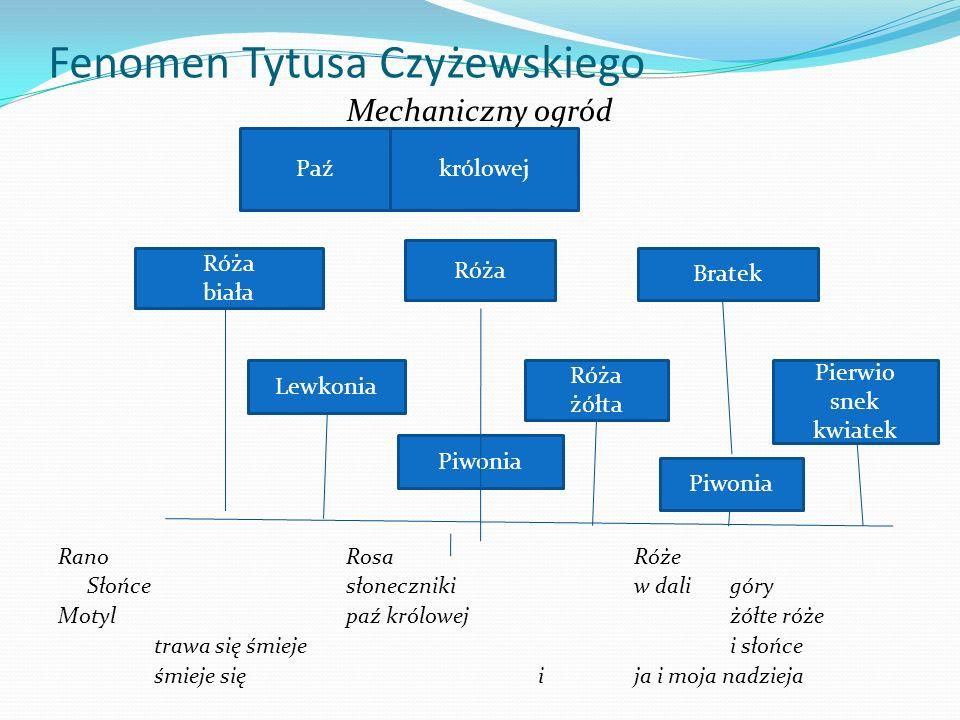 Fenomen Tytusa Czyżewskiego Mechaniczny ogród RanoRosaRóże Słońcesłonecznikiw daligóry Motylpaź królowejżółte róże trawa się śmiejei słońce śmieje się