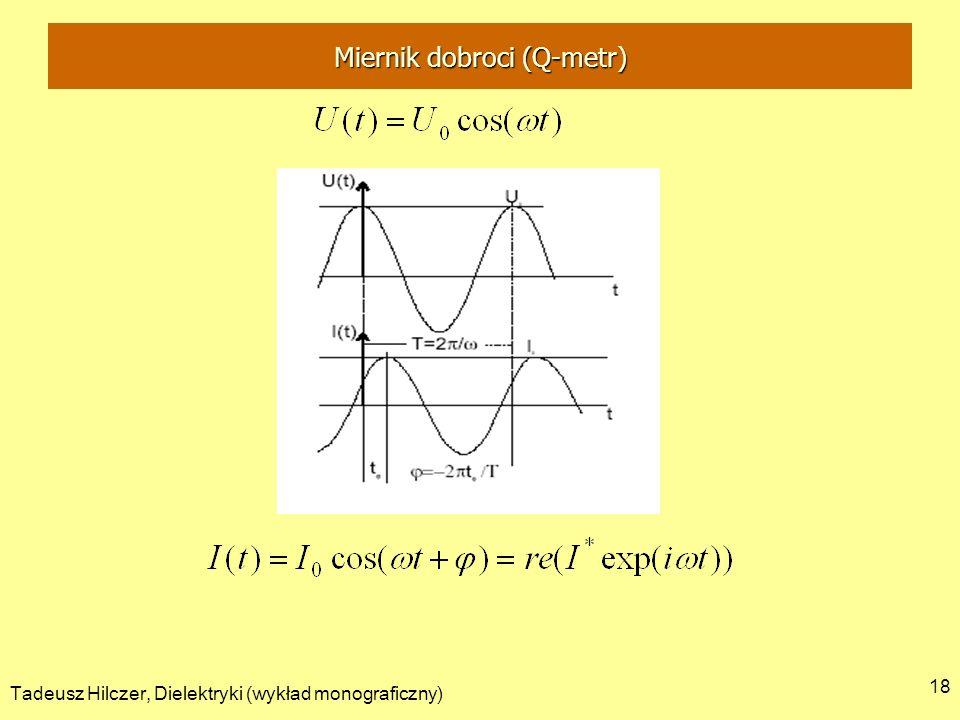Tadeusz Hilczer, Dielektryki (wykład monograficzny) 18 Miernik dobroci (Q-metr)