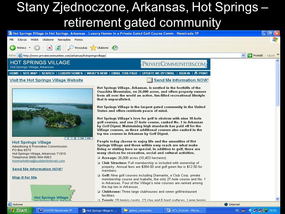 Stany Zjednoczone, Arkansas, Hot Springs – retirement gated community