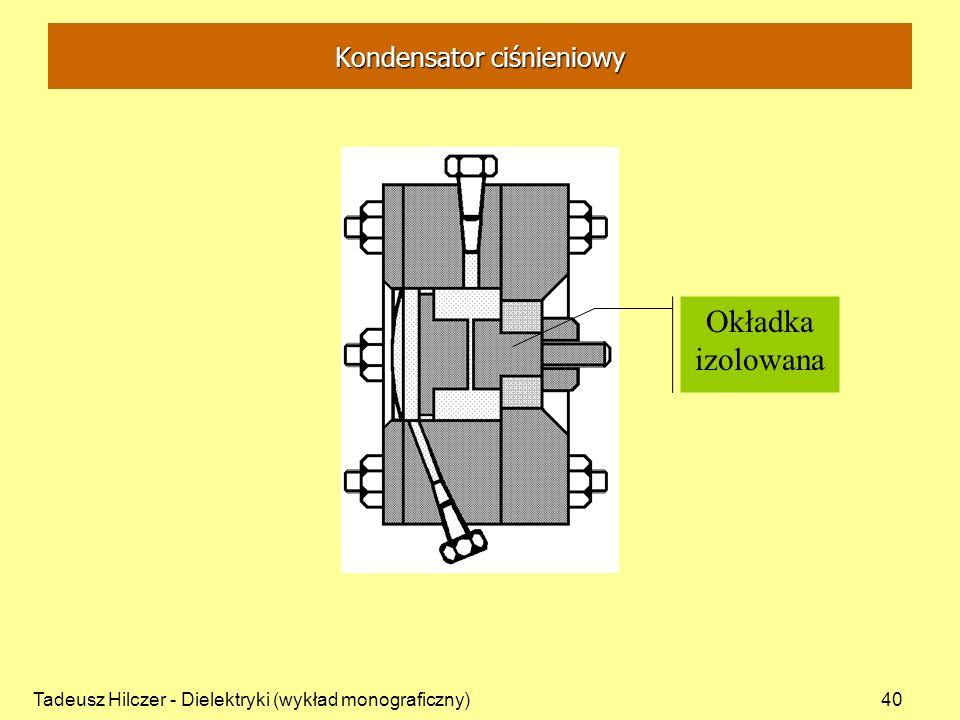 Tadeusz Hilczer - Dielektryki (wykład monograficzny)40 Okładka izolowana Kondensator ciśnieniowy