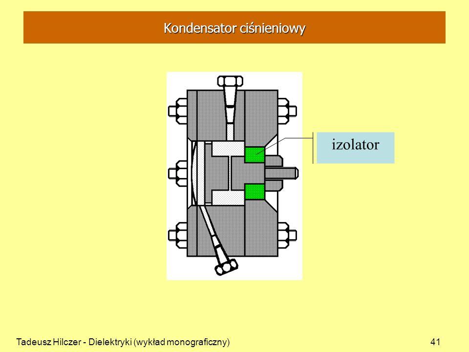 Tadeusz Hilczer - Dielektryki (wykład monograficzny)41 izolator Kondensator ciśnieniowy