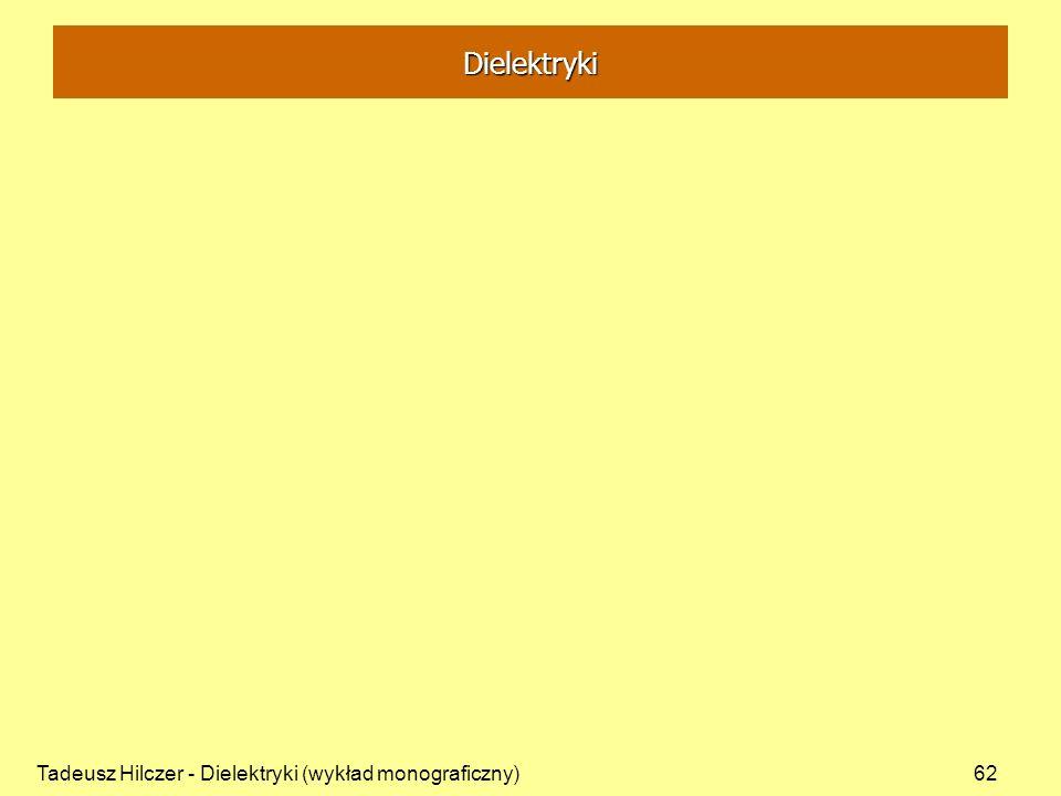 Tadeusz Hilczer - Dielektryki (wykład monograficzny)62 Dielektryki