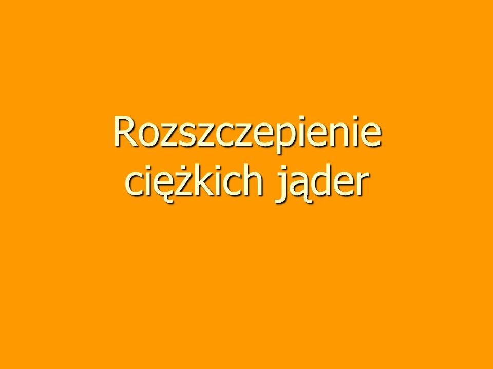 Tadeusz Hilczer, wykład monograficzny 73 Masa krytyczna Masa materiału rozszczepialnego w którym reakcja rozszczepienia zaczyna zachodzić łańcuchowo –zależy od warunków zewnętrznych temperatura ciśnienie –zależy od kształtu optymalnym kształtem jest kula Zmniejszenie masy krytycznej –zwiększenie gęstości –stosowanie osłon odbijających neutrony (reflektorów)