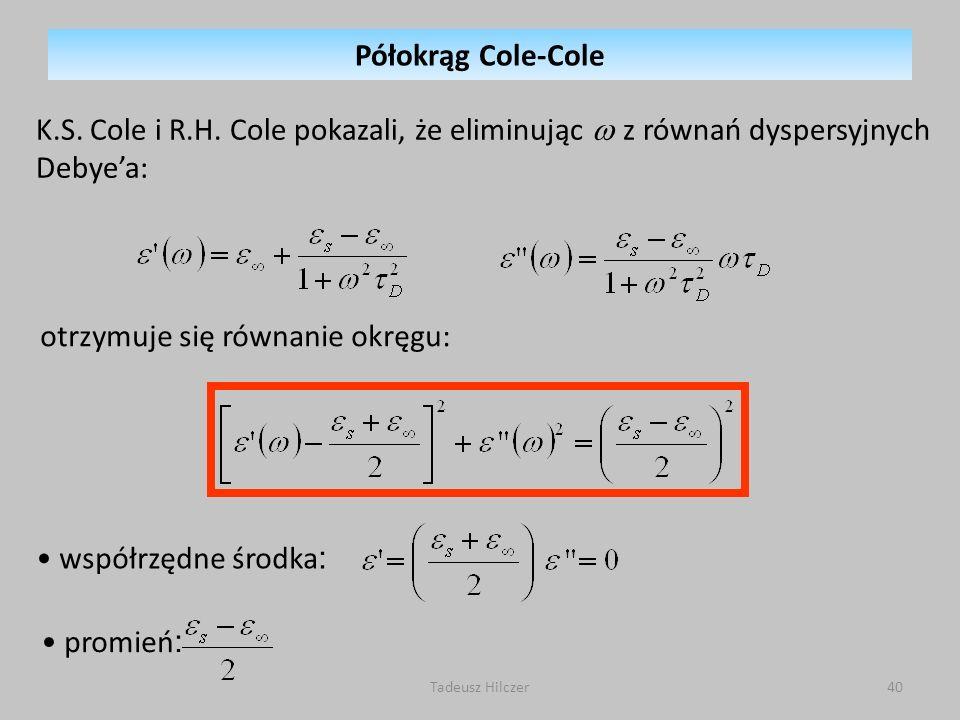Tadeusz Hilczer40 K.S.Cole i R.H.