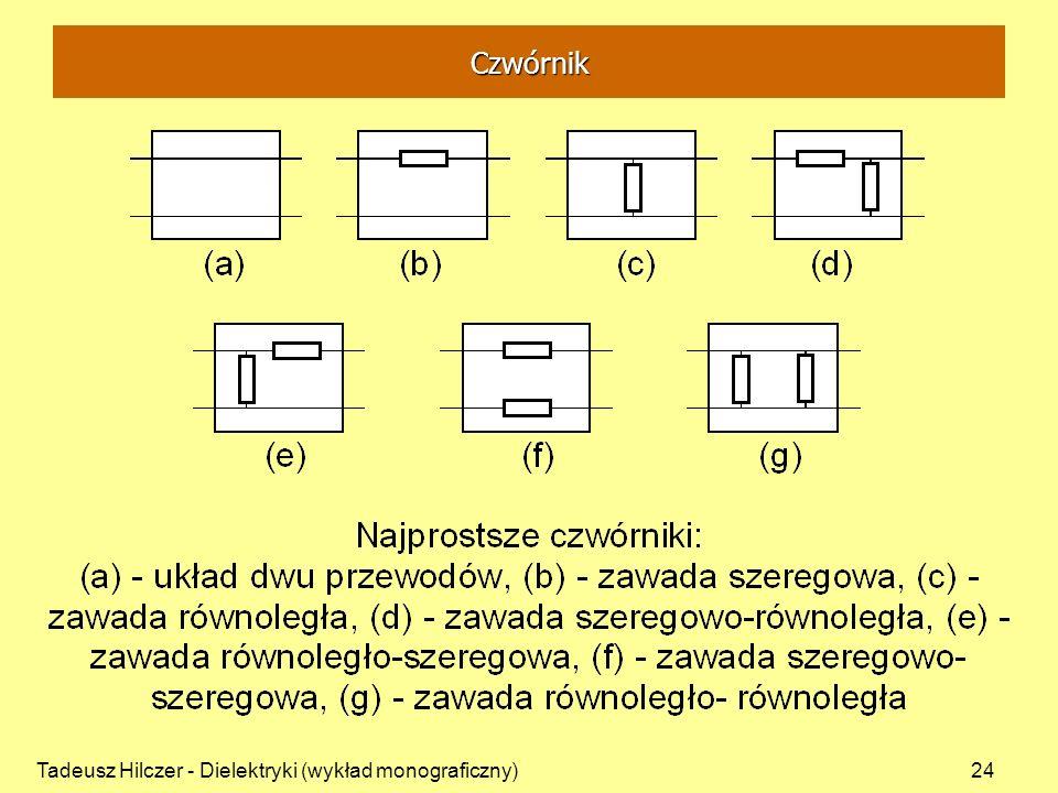 Tadeusz Hilczer - Dielektryki (wykład monograficzny)24 Czwórnik