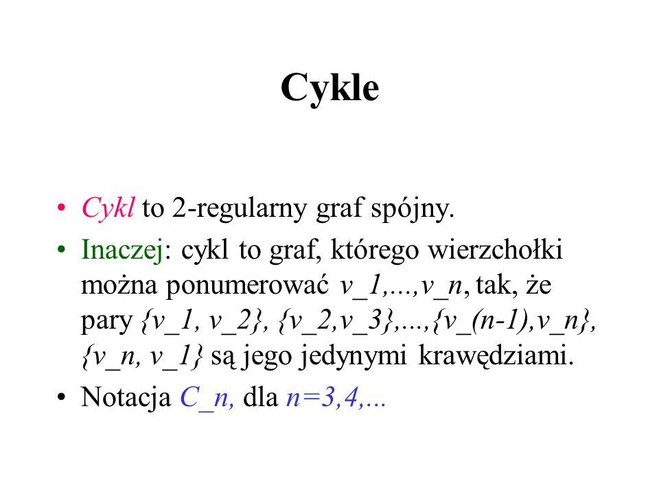 Wierzchołek cięcia G-v=G[V-v] Wierzchołek v grafu spójnego G nazywamy wierzchołkiem cięcia, gdy G-v nie jest spójny. Inaczej, istnieje podział V na A
