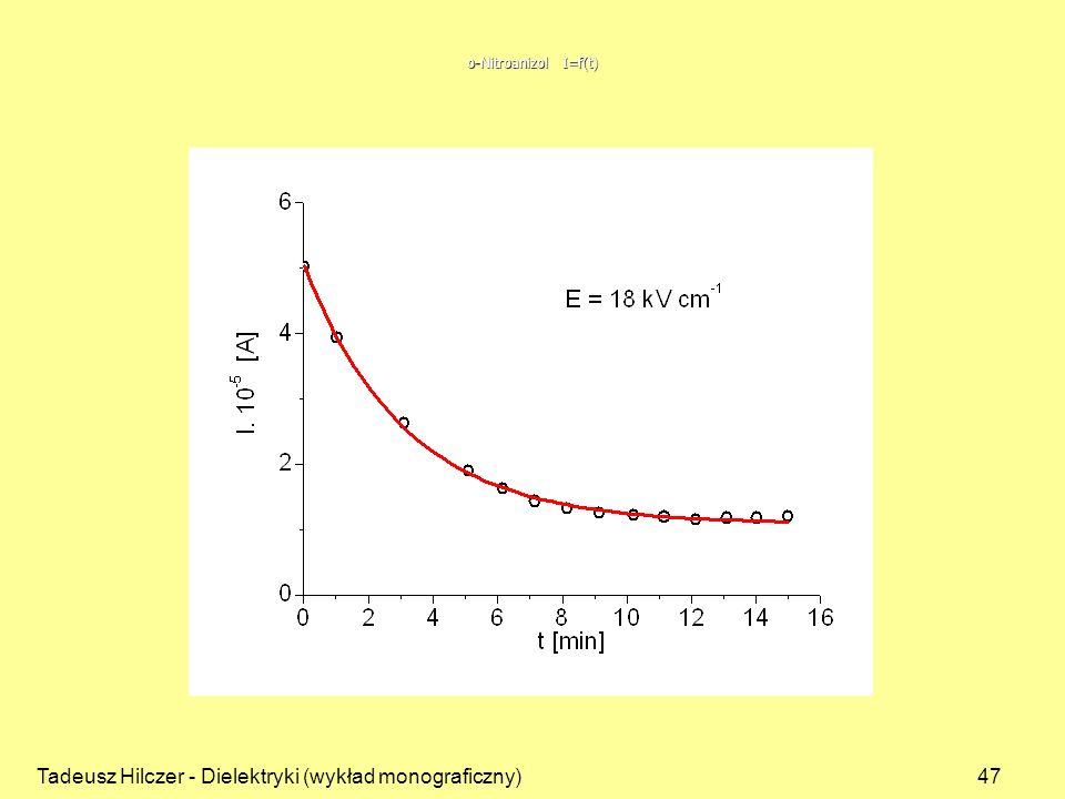 Tadeusz Hilczer - Dielektryki (wykład monograficzny)47 o-Nitroanizol I=f(t)