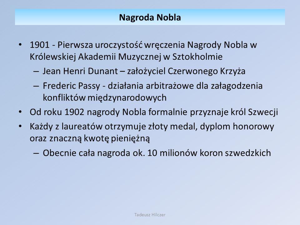Tadeusz Hilczer Fundacja Nobla