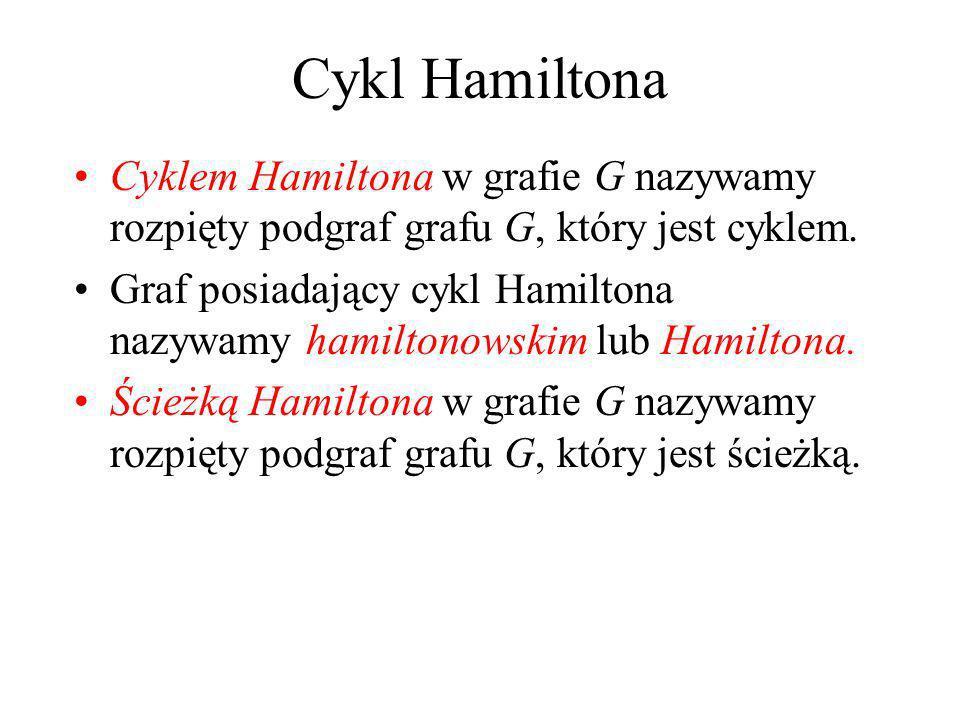 Zabawka Hamiltona Sir William Hamilton (1859): Przejść bez powtórzeń wszystkie wierzchołki dwunastościanu i wrócić do punktu wyjścia, poruszając się w