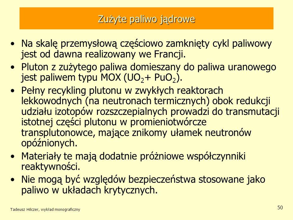 Tadeusz Hilczer, wykład monograficzny 51 Transuranowce rozszczepialne