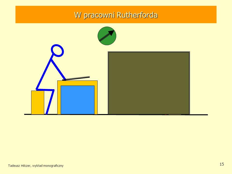 Tadeusz Hilczer, wykład monograficzny 16 3 czerwca – Wielka Brytania ….w jądrze atomowym powinna znajdować się jakaś cząstka, o stosunkowo dużej masie, pozbawiona ładunku Bakerian Lecture Ernest Rutherford (1871-1937) – NN 1908
