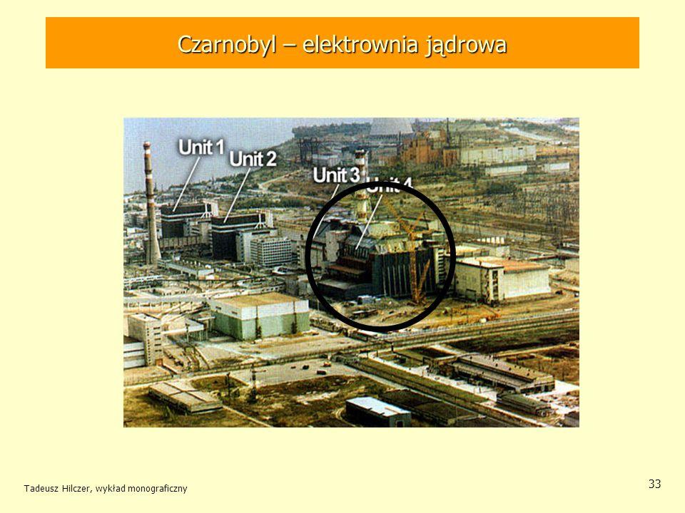 Tadeusz Hilczer, wykład monograficzny 33 Czarnobyl – elektrownia jądrowa