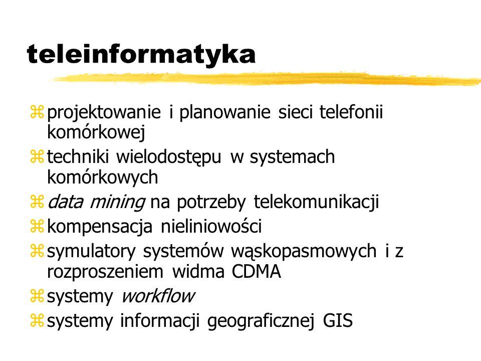teleinformatyka zprojektowanie i planowanie sieci telefonii komórkowej ztechniki wielodostępu w systemach komórkowych zdata mining na potrzeby telekom