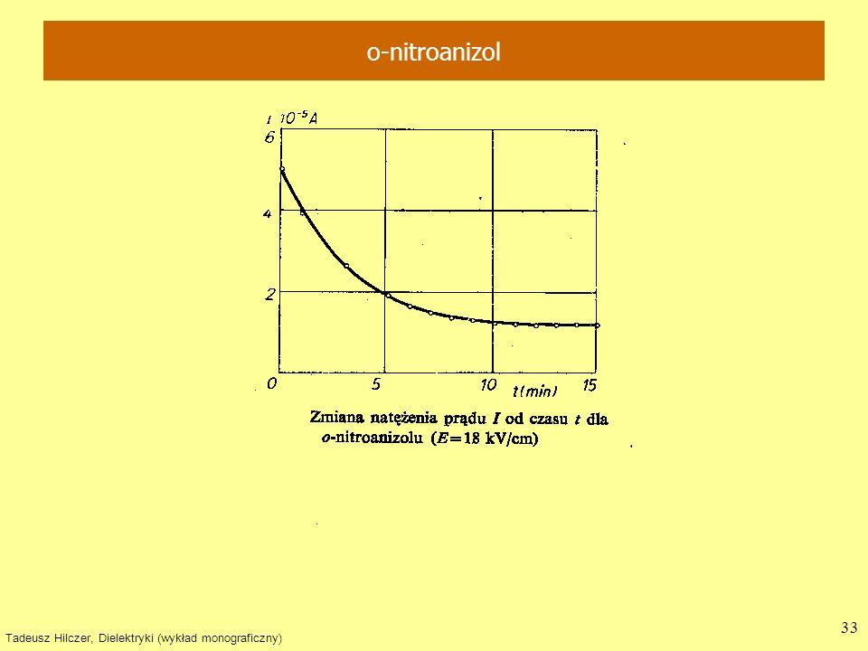 Tadeusz Hilczer, Dielektryki (wykład monograficzny) 33 o-nitroanizol
