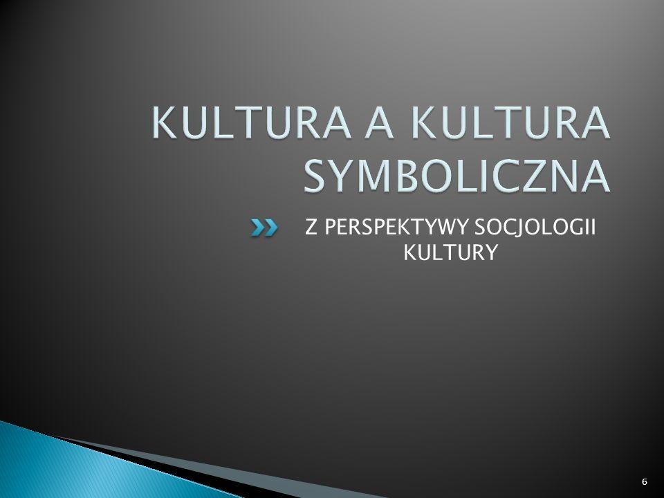 Z PERSPEKTYWY SOCJOLOGII KULTURY 6
