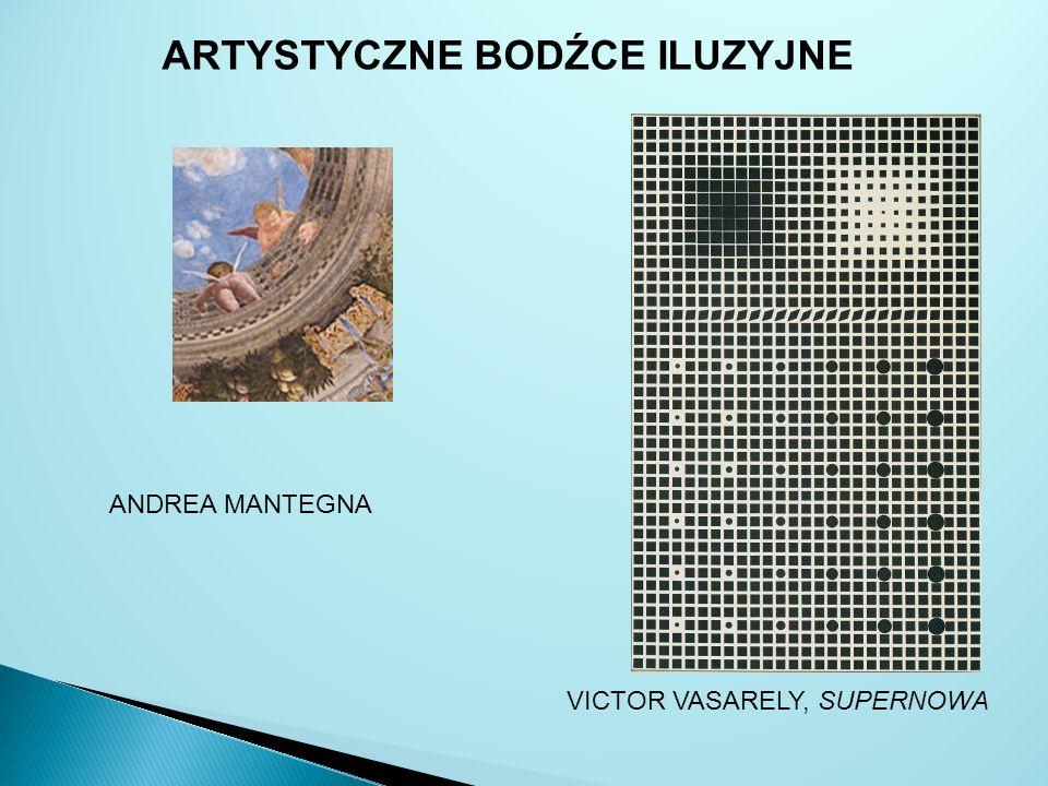 VICTOR VASARELY, SUPERNOWA ANDREA MANTEGNA ARTYSTYCZNE BODŹCE ILUZYJNE