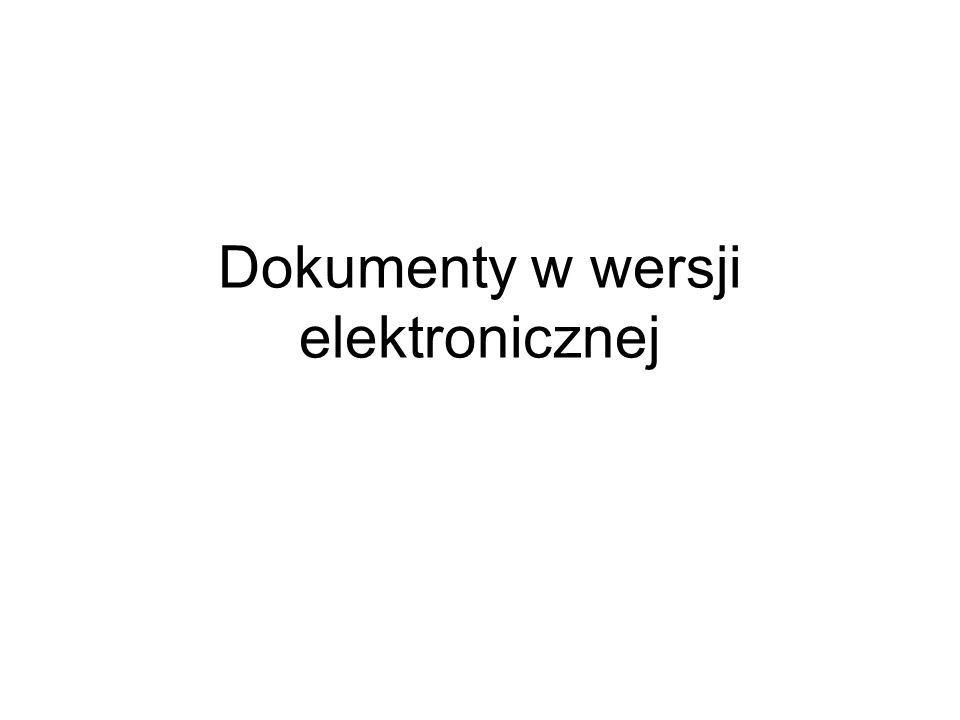 Dokumenty w wersji elektronicznej