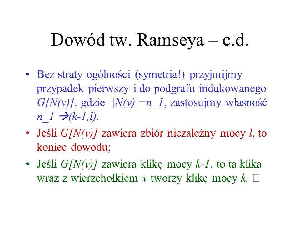 Dowód tw.Ramseya – c.d.