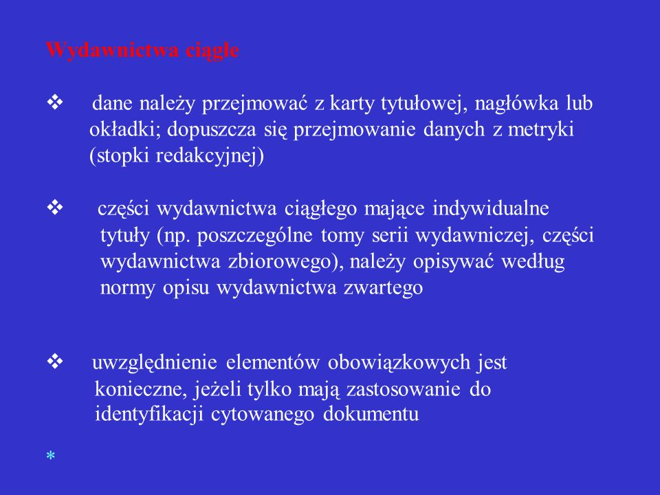 Przykład opisu fragmentu w wydawnictwie zwartym HABIELSKI, Rafał, OSICA, Janusz. Między niewolą a wolnością. Warszawa : Ludowa Spółdzielnia Wydawnicza
