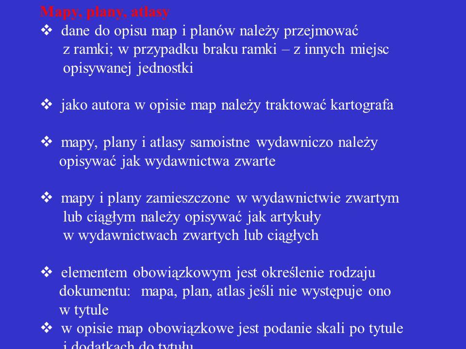 Przykład opisu normy PN-79/N-01222/07 Kompozycja wydawnicza książki. Bibliografia załącznikowa. PN-85/N-01158 Skróty wyrazów i wyrażeń w opisie biblio