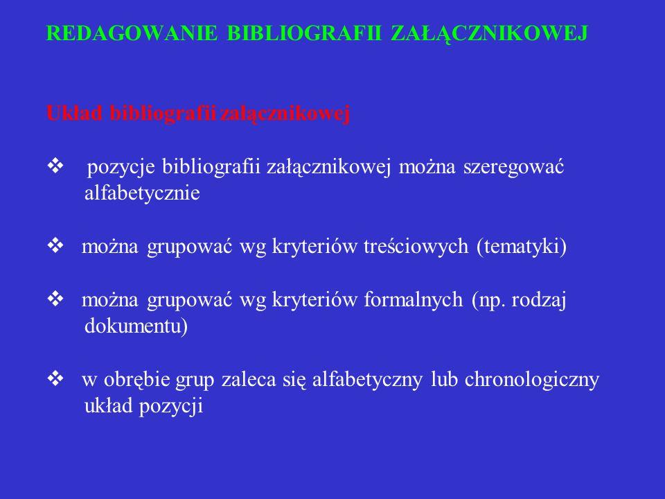 Przykład opisu mapy, planu, atlasu Beskid Sądecki i Żywiecki. Mapa. 1 : 1000 000. Wyd. 10. Warszawa 1985. ISBN 83-0222-43. Plan centrum Warszawy. W: A