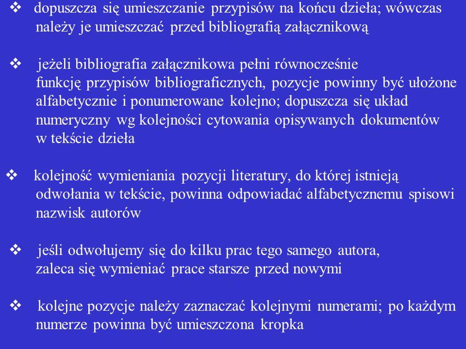 przypisy u dołu strony powinny być zapisane mniejszą czcionką niż tekst główny np. : 1 SULMICKI, Paweł. Planowanie i zarządzanie gospodarcze. Warszawa
