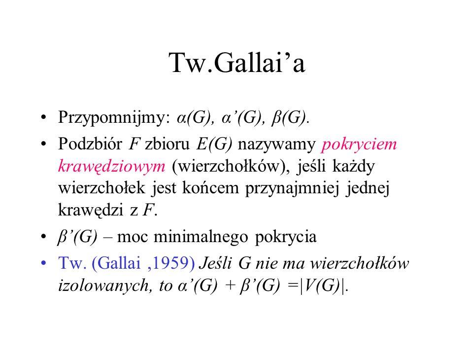 3. dowód Tw. Halla Prosty wniosek z Tw. Tuttea (do samodzielnego zastanowienia się)