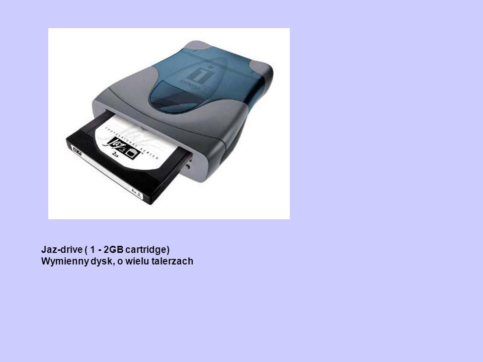 Jaz-drive ( 1 - 2GB cartridge) Wymienny dysk, o wielu talerzach