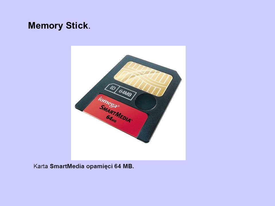 Memory Stick. Karta SmartMedia opamięci 64 MB.