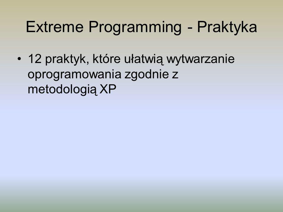 Extreme Programming - Praktyka 12 praktyk, które ułatwią wytwarzanie oprogramowania zgodnie z metodologią XP