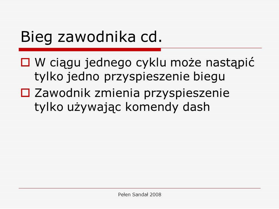 Pełen Sandał 2008 Bieg zawodnika cd.
