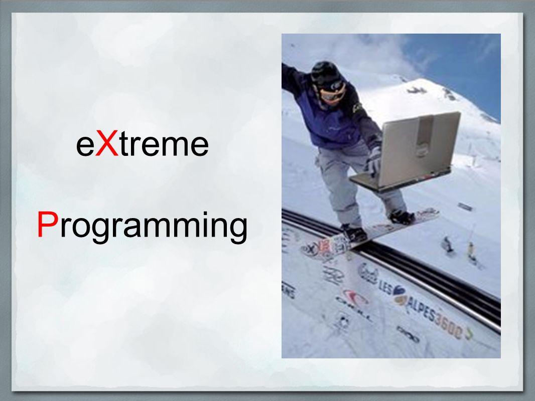 Jakość Metodologia XP, co zobaczymy w Praktykach, stawia na jakość tworzonego oprogramowania.