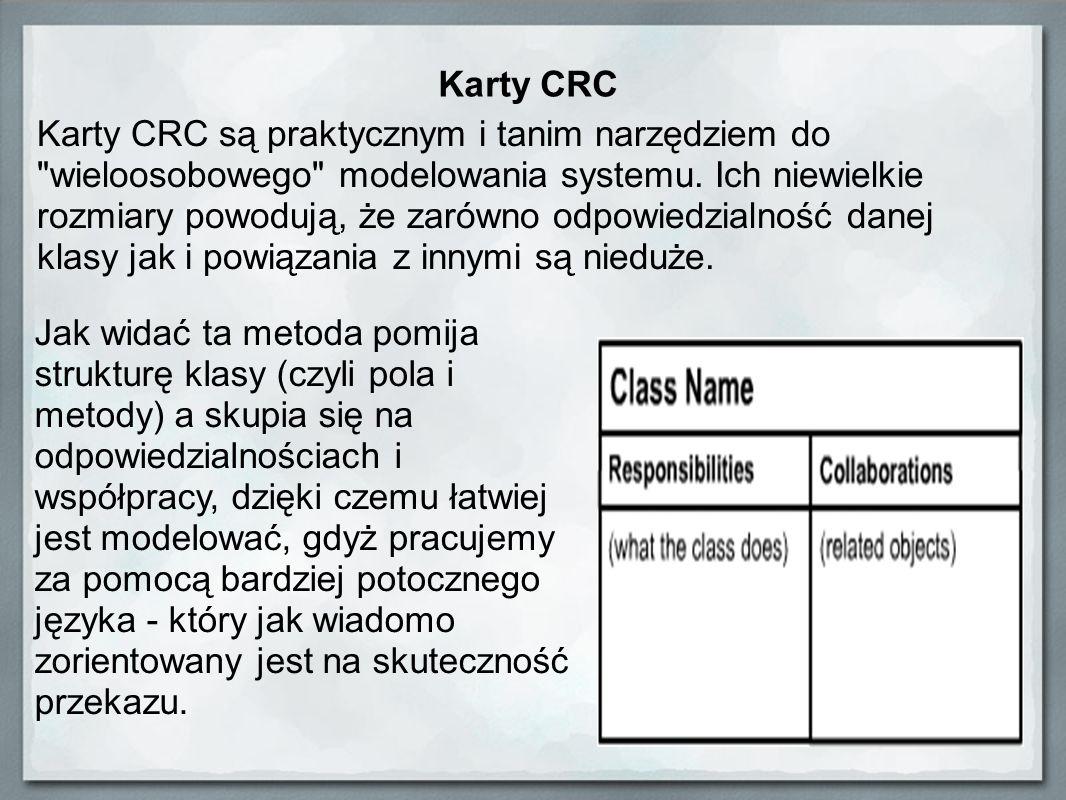 Karty CRC Karty CRC są praktycznym i tanim narzędziem do
