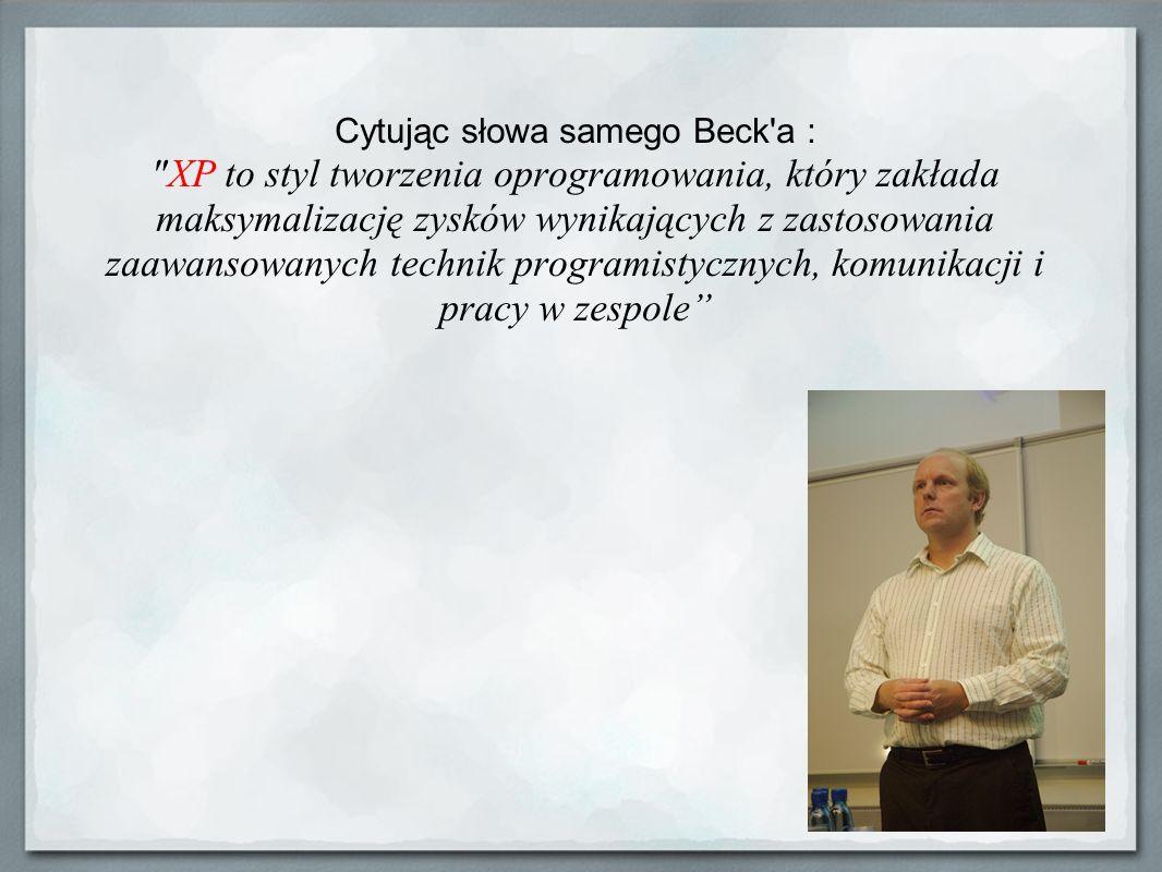 Iteracyjne poprawianie Iteracyjność w XP przejawia się w planowaniu, projektowaniu oraz implementacji.