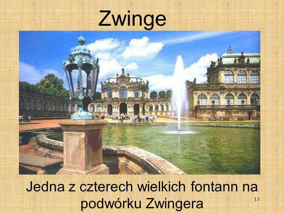 13 Zwinge Jedna z czterech wielkich fontann na podwórku Zwingera