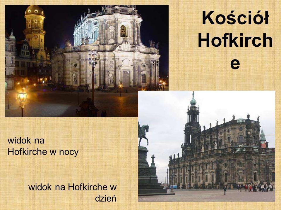 17 Kościół Hofkirch e widok na Hofkirche w nocy widok na Hofkirche w dzień