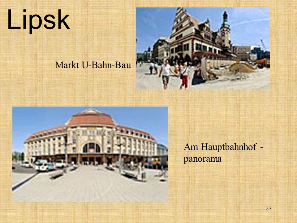 23 Lipsk Am Hauptbahnhof - panorama Markt U-Bahn-Bau