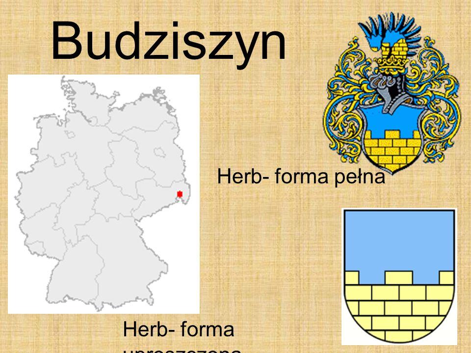 28 Budziszyn Herb- forma pełna Herb- forma uproszczona