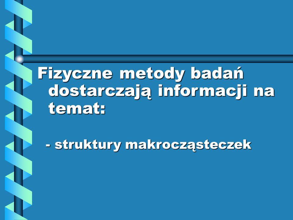 - struktury makrocząsteczek - struktury makrocząsteczek