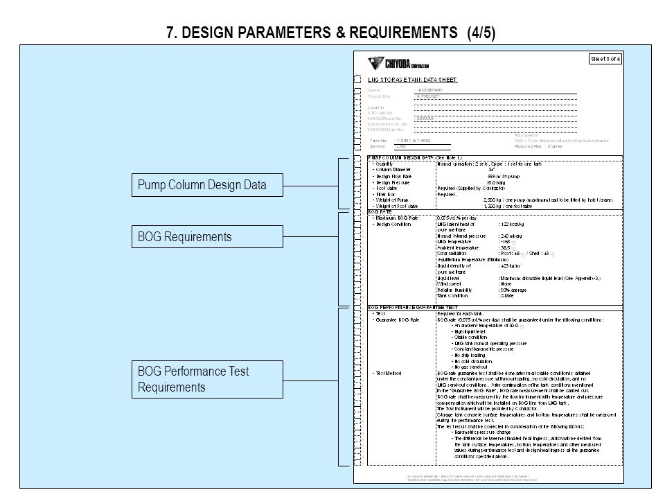 7. DESIGN PARAMETERS & REQUIREMENTS (3/5) OBE ( Operating Basis Earthquake ) and SSE (Safety Shutdown Earthquake) per NFPA 59A OBE (Operating Basis Ea