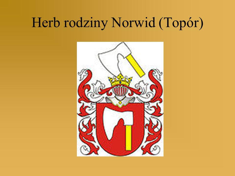 Po śmierci matki (1825) wychowywany przez prababkę Hilarię Sobieską W 1830 roku przeżył powstanie listopadowe w Warszawie Norwid uczył się w warszawskim gimnazjum, przed ukończeniem piątej klasy wstąpił do prywatnej szkoły malarskiej, gdzie kształcił się pod kierunkiem Jana Klemensa Muinasowicza ( 1831-1837) Śmierć ojca w roku 1835