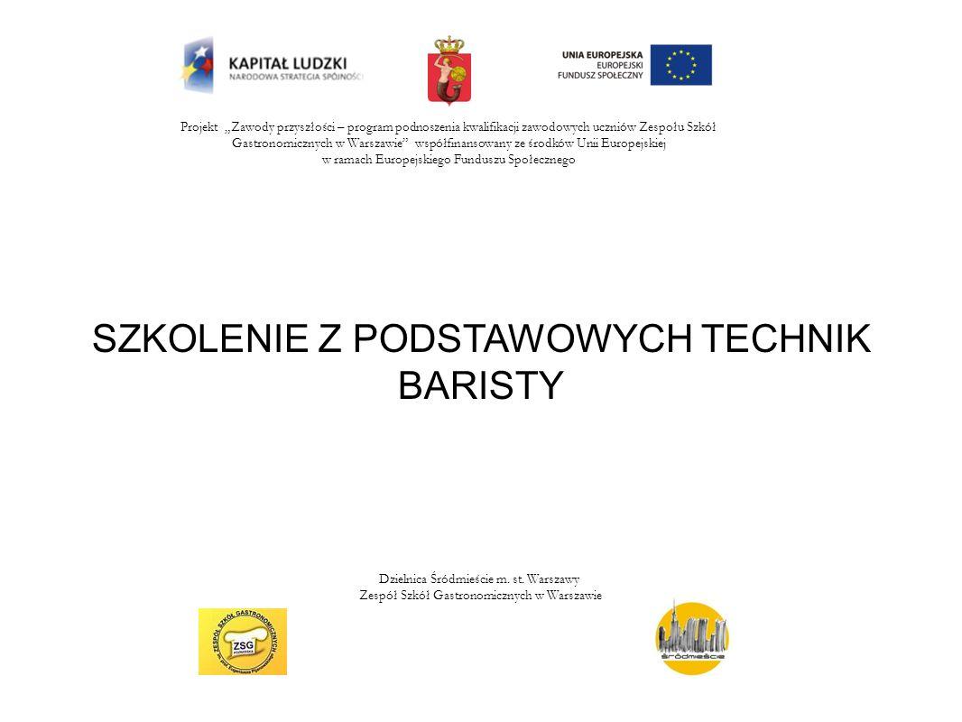 Projekt Zawody przyszłości – program podnoszenia kwalifikacji zawodowych uczniów Zespołu Szkół Gastronomicznych w Warszawie współfinansowany ze środkó