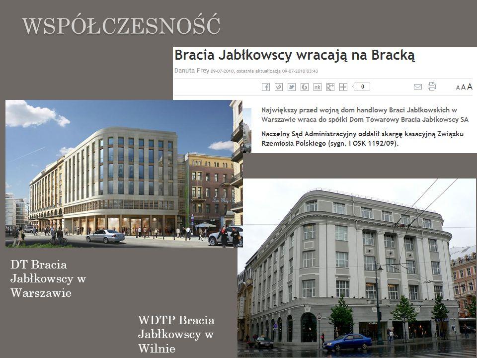 WSPÓŁCZESNOŚĆ DT Bracia Jabłkowscy w Warszawie WDTP Bracia Jabłkowscy w Wilnie