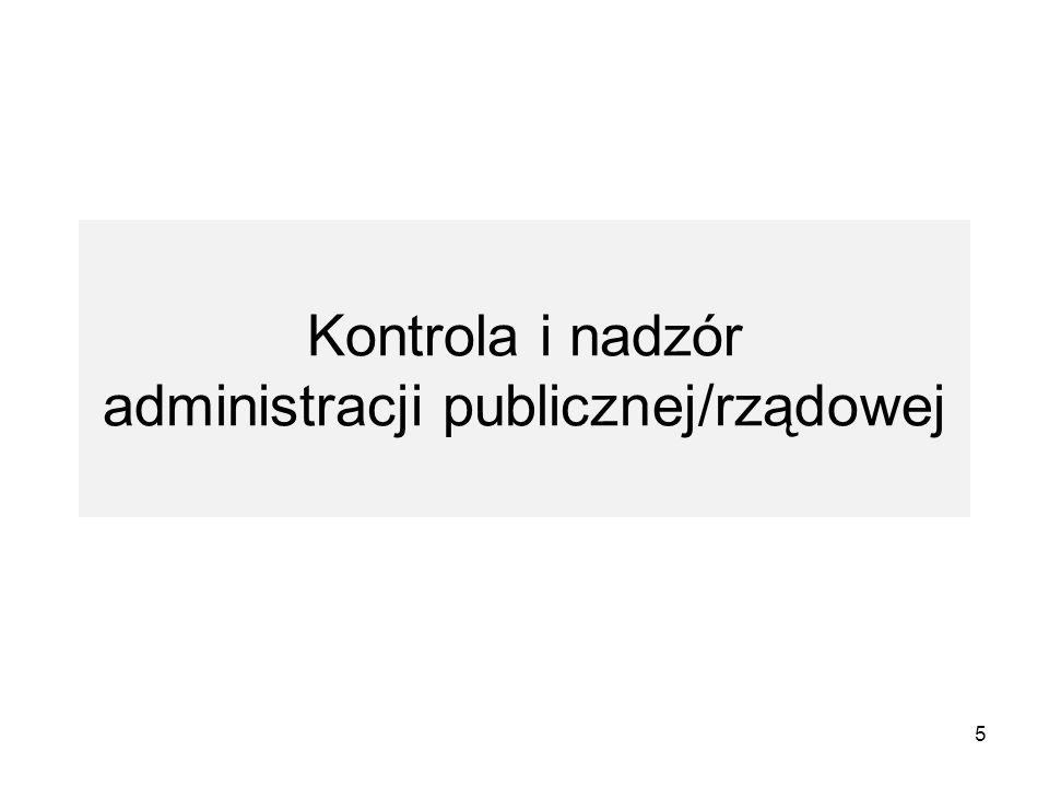 Kontrola i nadzór administracji publicznej/rządowej 5