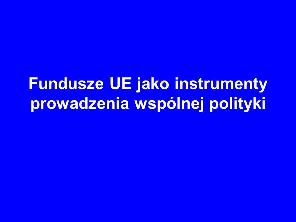 Fundusze UE jako instrumenty prowadzenia wspólnej polityki Europejski Fundusz Inwestycyjny Zadaniem EFI jest udzielanie gwarancji oraz partycypacja w kapitałach przedsiębiorstw.